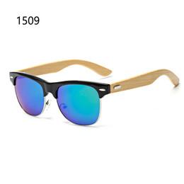 Descuento espejo de cristal clásico Gafas de sol de madera clásicos para las mujeres y los hombres gafas de sol de lujo del espejo de la marca de fábrica con el abrigo y la bisagra matel lunette de sol femme homme