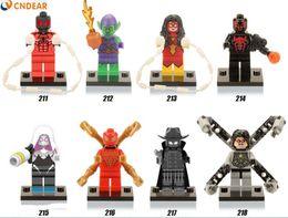 480pcs lot X0107 Marvel Superheroes Falcon Spider-Man She-Hulk Black Panther Captain America 3 Civil War Toys Children Gift