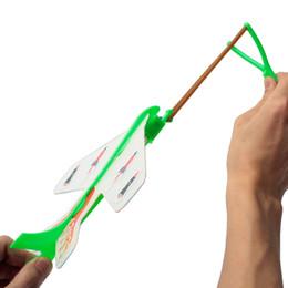 Wholesale LED Light Elastic Plane DIY Model Arrow Rocket Flying Toy Party Gift