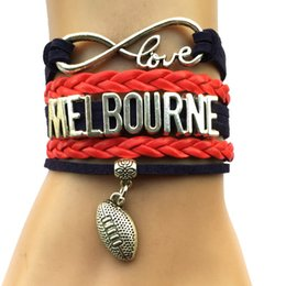 Wholesale Drop Shipping Infinity Love Melbourne Football Bracelet Personalized AFL Australian League Team City College Bracelet