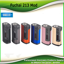 Wholesale Authentic Sigelei Fuchai TC Box Mod W Celsius based TCR calculation Dual battery genuine DHL Free