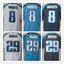 Wholesale Best quality jersey Men s Stitched Marcus Mariota DeMarco Murray elite jerseys White baby blue Dark blue Size
