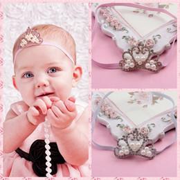 NEW ! Baby Crown Headband, Baby Tiara Headband, Rhinestone Tiara for Babies, Princess Headband for Baby Girls, Crystal Pearl Crown