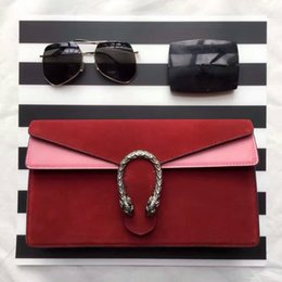 Wholesale Luxury brand designer full leather high grade wine god hand bag envelope design brief vogue female bag cm