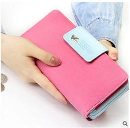 Promotion couleur de titulaire de la carte Candy Color Lady Portefeuilles Multi Function PU Portefeuille en cuir Sac à main Hasp Porte-monnaie Porte-cartes de crédit Totes v148