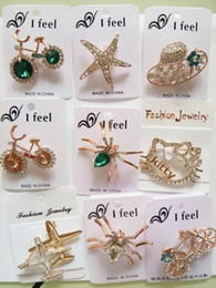 Wholesale Diamond brooches insects hat bicycle dragonfly cartoon brooches high grade zircon brooch pins size x4cm