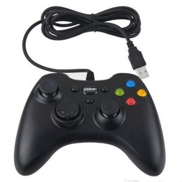 Xbox 360 Playstation Controlador Gamepad USB con cable Joypad XBOX 360 Pc Uso Joystick Game Controllers para Ordenador Portátil PC negro blanco colores joystick xbox white on sale desde blanco xbox palanca de mando proveedores