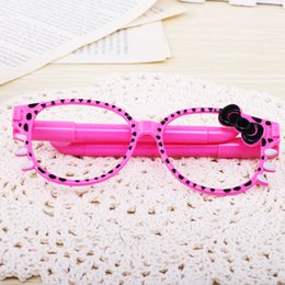 Wholesale Pure and fresh and glasses pen Fashion picture frame ballpoint pen Lovely kitten creative cartoon gift student award