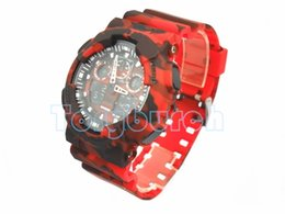 New colors CAMO 100 dual display relogio men's sports watches, LED chronograph wristwatch, military watch good gift for men & boy no box