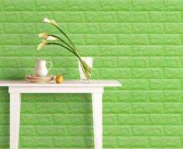 Wholesale 3D PE foam faux brick wall sticker self adhesive decorative D wall board