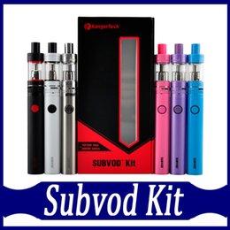 Kanger subvod Starter Kit avec 1300mAh SUBVOD Batterie 3.2ml Toptank Nano Atomiseur ssocc bobines E cigarette Kits Gift Box DHL gratuit à partir de e cadeaux fabricateur