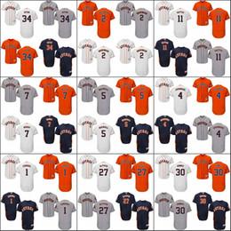 Wholesale Houston Astros Men Jose Altuve Dallas Keuchel Nolan Ryan Evan Gattis Carlos Gomez Bregman Flexbase Collection Jersey Stitched