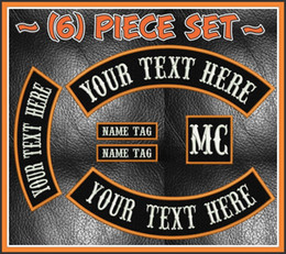 Custom Biker Rockers Embroidered Patch Emblem Iron On Jacket MC Biker Back Patch Free Shipping