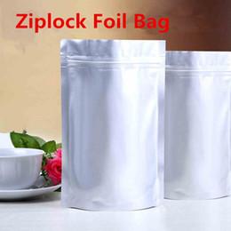 21x31cm Stand Capacity Large Aluminum Foil Zip Lock Packaging Mylar Bag Baking Food Tea Smell Saver Laminating Heat Sealing Reusable Package