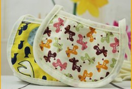 Wholesale 3Layers Infant Bibs INS Maternal and child products EVA green waterproof layer waterproof bibs Children cartoon cotton baby bibs Burp Cloths
