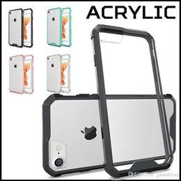Wholesale Air Hybrid Crystal Soft TPU Transparent Frame Back Case Acrylic Cover Armor Case For iPhone Plus S Samsung Galaxy S7 edge