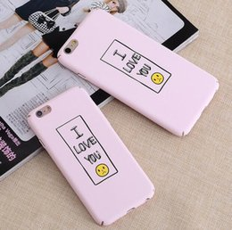 Lovers matte rubber Coated Soft Touch Plastic hard case for iphone 6 6S Plus 7 7Plus