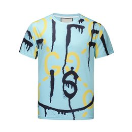 Men's T-T-Photos 17ktv fashion Wave Of Men Floral Print Colour parblo Mixture Luxury Men's T-Shirts Casual Harajuku Long Men's Medusa M--2XL