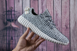 2018 Cheap Wholesale Discount Kanye Milan West Boost 350 Men's & Women's Outdoor Shoes Fasion Sports Running Shoes Free Shipping With Box