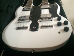 Guitare électrique double guitare SG guitare personnalisée 6 cordes avec guitare 12 cordes Guitare blanche en stock à partir de cordes sg fournisseurs