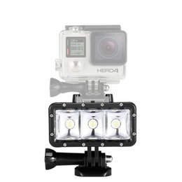 Wholesale Waterproof High Power Dimmable LED Video POV Flash Fill Light Night Light for GoPro Hero for xiaomi Yi Action Camera DHL FREE