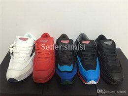 Wholesale Raf Simons Consortium Ozweego Sneakers Mens and Womens Running Shoes Black White Red Blue Size US5 US11