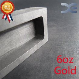Wholesale 6 oz Troy Ounce Silver Rectangle Graphite Ingot Mold For Melting Casting Refining Scrap Jewelry Accept OEM A