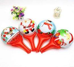 Wholesale Cute Christmas Hand held Balloon Children s Cartoon Balloon Shopping Kindergarten Christmas Snowman Hand held Stick Al foil Balloon