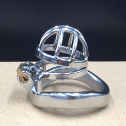 Easy to pee design,device full length 50mm,cage length 30m small chastity cage metal male chastity devices for men