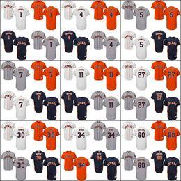 Wholesale Houston Astros Mens Alex Bregman Carlos Correa George Springer Jeff Bagwell Craig Biggio Ryan Flexbase Collection Jersey Stitched