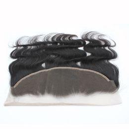 Frontal del cordón de la Virgen Frontal del cordón de la onda del cuerpo brasileño del pelo humano 13 * 4 1B Parte delantera del cordón de Remy de la parte media Pelo 8