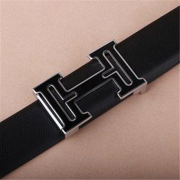 Wholesale https www aliexpress com store product New Brand Designer Belts Men High Quality Cowhide Young Fashion Genuine Leather H Buckle Men