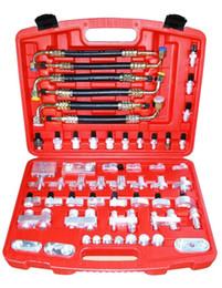 Wholesale AUTO AC Leak detection fitting adaptor manifold tools for Automotive Air Conditioning compressor condenser evaporator