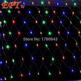 Acheter en ligne Rgb led net-Grossiste-LEDChristmas Net Light 1.5Mx1.5M / 100led 3x2m / 200led 4.2x1.6 / 300LED Fées Fées Décoration de mariage de mariage de vacances