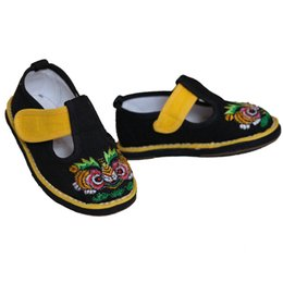 Chinese Style Infant Shoes Leisure Handmade Boy Cloth Shoes Breathable Soft Toddler Shoes Embroidery