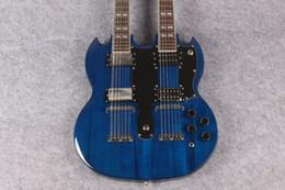 Cuerdas custom shop en Línea-¡Nueva llegada! Cuello doble de la tienda ES-1275 de encargo La guitarra azul de las secuencias del color 6-12 del océano, envío libre OEM aceptado
