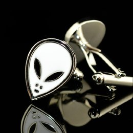 The E.T Shaped cufflinks, cartoon cuff link . Fun metal cufflinks   men's fashion jewelry.