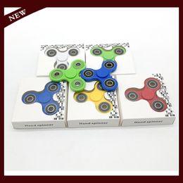 Boîte d'araignée jouet en Ligne-Hand Spinner Fingertip Spider Fidget Fidget Spinner EDC Spinner Plastique Acrylique Fidget Jouet Toy Gyro Avec Retail Box