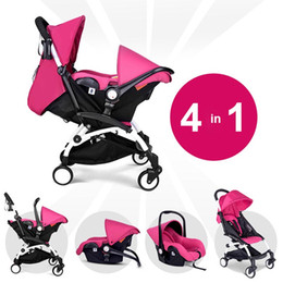 Fashion Multifunction Baby Stroller 2 in 1 , Pushchair + Sleeping Basket, Portable Light Baby Jogger, Children Trolley