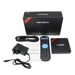 Amlogic android à vendre-Haute qualité A95X NEXBOX Amlogic S905X Android 6,0 TV BOX Quad core 1 Go / 8 Go H.265 4k 3D Smart Box