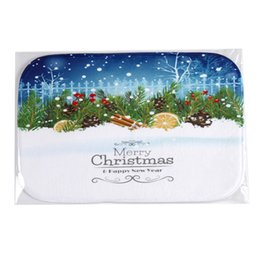 Wholesale christmas decorations for home Absorbent non slip bath mat carpet for kitchen floor rug rugs carpets Bath Shower Mats