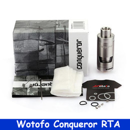 Acheter en ligne Billow rta-Vente en gros - vaporisateur de cigarette électronique Authentique Wotofo Conqueror RTA réservoir 4ml Vape Atomizer vs Wotofo serpent Mini / ehpro billow v3 YY