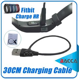 Wholesale 30cm USB Charger Charging Cable For Fitbit Charge HR Smart Wristband Replacement for lost or damaged cables bacca