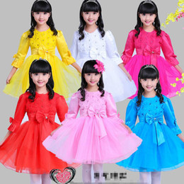 6 colors Party Girls dance costumes Kids festival dancing dress Children Dance Tulle Dress Girl Ballet Dress Fitness Clothing Performance