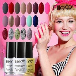 Wholesale Elite99 Base Top Coat UV Gel Varnish Polish Manicure Gorgeous Colors Vernis Semi Permanent Polish Gel ml Gelpolish