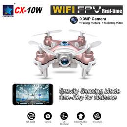 Wholesale 2016 New Mini Original Cheerson CX W CH Axis Gyro Wifi FPV Quadcopter RTF Mini RC Drone with MP Camera