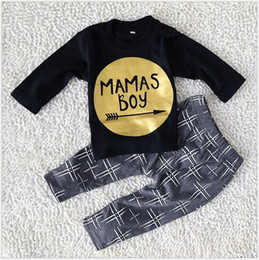 Wholesale 2017 New Spring Autumn Boys Clothing Sets Baby Boy Long Sleeve T shirt Pants Set Kids Casual Suit Children Cotton Sportswear Outfits
