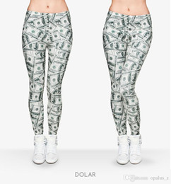 Polainas de la impresión de poliéster en Línea-2017 Leggings de la manera de la impresión de la manera para las mujeres Polyester libre Leggins suaves pantalones leggings florales de la yoga para el gym de las mujeres Modelo de Dolar