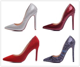 Wholesale Custom Made Satin Shoes - Custom Made 6cm 8cm 10cm 12cm High heel Wedding Shoes 2016 New Arrive Red Bottom High Heels Shoes High Quality Pointed Toe Brand Women Pumps
