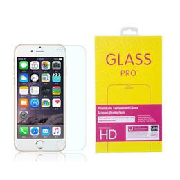 0.3mm templó el protector de la pantalla de cristal para el iPhone 5 5S 6 6S más la galaxia S7 S6 S5 S4 Nota 4 5 modelos de la mezcla 9H 2.5D alta calidad superior DHL desde iphone vidrio de alta calidad fabricantes